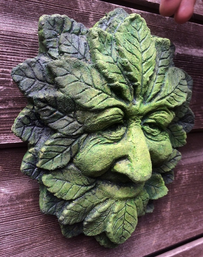Wise Green man plaque